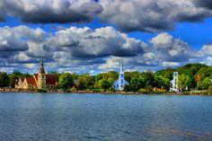 Mahone Bay, Nova Scotia Anglican, Lutheran and Baptist Places To See, Places Ive Been, Atlantic Canada, Prince Edward Island, Beautiful World, Beautiful Places, New Brunswick, Great Memories, Nova Scotia