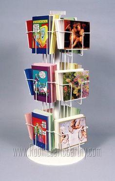 72 best greeting card rack images on pinterest in 2018 greeting one 1 12 pocket greeting card counter display spinner rack plastic base 6 pockets horizontal 6 pockets vertical great for cards m4hsunfo