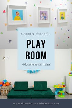 Step inside this modern, colorful playroom for toddlers. Affordable and touches of DIY, whilw still being stylish. Color Splash, Color Pop, Colorful Playroom, Toddler Playroom, The Home Edit, Watercolor Walls, Kid Table, Container Store, Neutral Palette
