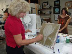 Fresco School - verdaccio during fresco workshop in Inglewood CA