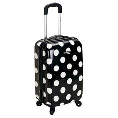 "Eight multi directional spinner wheels rotate 360 degrees for easy maneuverability. Modern internal chrome telescoping handle with push button. Interior mesh and zip pocket and elastic pocket. 20"" upright: 20 "" x 13"" x 9 "", 6 lbs."
