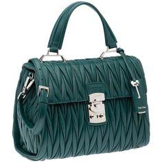 Miu Miu Top Handle (3 065 AUD) ❤ liked on Polyvore featuring bags, handbags, kiss-lock handbags, pocket purse, zip bags, quilted purse and miu miu bag