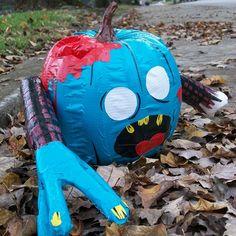 "Stick or Treat 2011 entry ""Zombie Jack"" #ducktape #halloween"