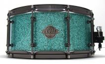 14x6.5 Blackwood Snare Drum - Turquoise Glass Glitter Wrap