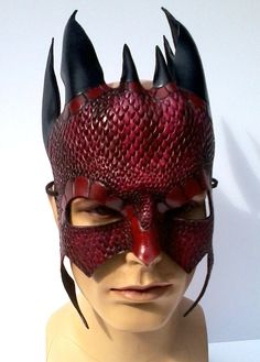 Leather Dragon Warrior Mask Steel 1st mask