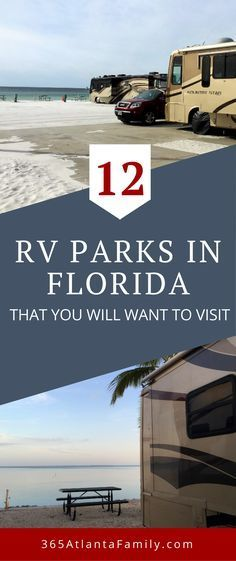 12 RV Parks In Florida That You Will Want To Visit. The perfect way to see Florida is on a road trip in an RV! Here are 12 Amazing RV Parks in Florida that you will want to visit with your family this year! Clearwater Florida, Florida Keys, Orlando Florida, Rv Parks In Florida, Florida Camping, Beach Camping, Florida Travel, Road Trip Florida, Florida City