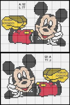 Mickey Mouse x-stitch