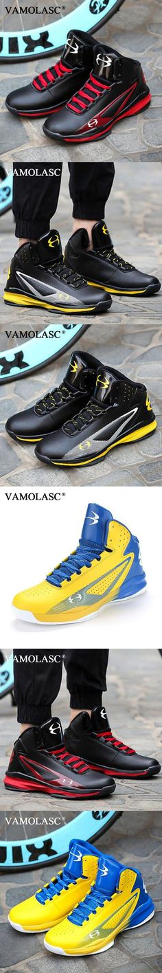 VAMOLASC New Men's Leather Basketball Shoes Totem Warm Breathable Sneakers High Top Athletic Shoes Sports Shoes BS0357