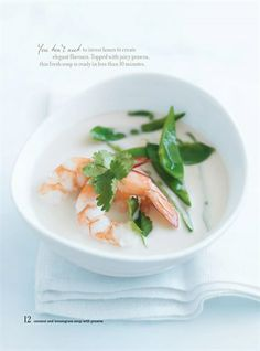 Coconut and lemongrass soup with prawns @Donna Hay