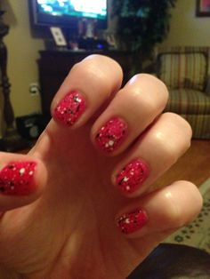 My new nail polish (splatter effect) from Claire's!