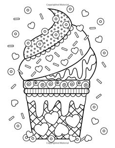Cupcakes Pattern Free Printable Adult Coloring Pages Free