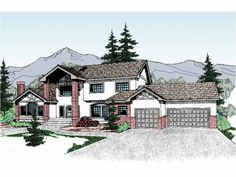 Contemporary-Modern House Plan with 3520 Square Feet and 6 Bedrooms from Dream Home Source | House Plan Code DHSW07530