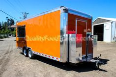 *8ft W x 20ft L enclosed Double 5200 lb axles Food Trailer (+4ft tongue) *Safety chains, electric breaks and breakaway kit per DOT Regulations *18 3/4 Stainless Steel Counters *50 AMP Generator/Shore Power Inlet *Up to 8 Electrical Outlets with GFCI *3 Fluorescent Lights *Eaton Cutler-Hammer 125-Amp, 8-Space, 16-Circuit Type-CH Outdoor Main Lug Sub Feed Panel *SHURflow On Demand Water Continue Reading