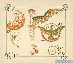 12 | Combinaisons ornementales - Альбом орнаментов в стиле Арт Нуво | ARTeveryday.org