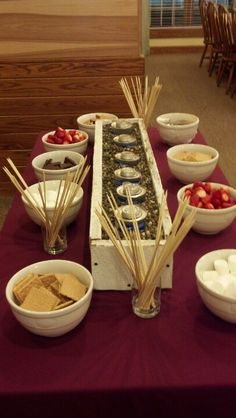 Company Christmas Party Smores Bar. Big hit. (office christmas party appetisers)