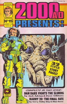 Cover for 2000 A. Presents (Fleetway/Quality, 1987 series) Dave Gibbons, 2000ad, Sci Fi Comics, Judge Dredd, Book Worms, Horror, Presents, Ads, Cover