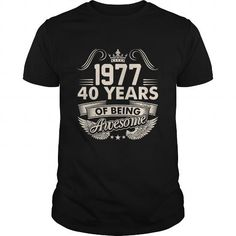 1977 T Shirt 40 Years Of Being Awesome 40 Years Gift Birthday #1977 #tshirts #birthday #gift #ideas #Popular #Everything #Videos #Shop #Animals #pets #Architecture #Art #Cars #motorcycles #Celebrities #DIY #crafts #Design #Education #Entertainment #Food #drink #Gardening #Geek #Hair #beauty #Health #fitness #History #Holidays #events #Home decor #Humor #Illustrations #posters #Kids #parenting #Men #Outdoors #Photography #Products #Quotes #Science #nature #Sports #Tattoos #Technology #Travel…