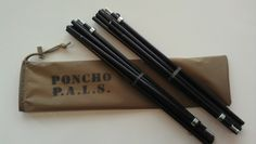 """ALPHA TENT - Poncho P.A.L.S. (Complete Pole Kit) These will turn your Military, or Military Spec poncho into a Lite Shelter. Includes two Easton 7075 T-9 tent poles with pole locking system, and with a carry bag with sewn in detailed instructions. $45.00 - RjW - The original """"ALPHA TENT"""" with KUDOS for Concept & Design by Warlord (Trip Williams) at ALPHA RUBICON. www.alpharubicon.com/prepinfo/ponchotent.htm"""
