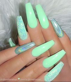 100 Best Nail Designs Colors for Spring 2019 # Spring # for . - 100 Best Nail Designs Colors for Spring 2019 Nail Designs Spring, Cool Nail Designs, Art Designs, Coffin Nails Designs Summer, Acrylic Nail Designs For Summer, Cool Nail Ideas, Coffin Nails Designs Kylie Jenner, Green Nail Designs, Different Nail Designs