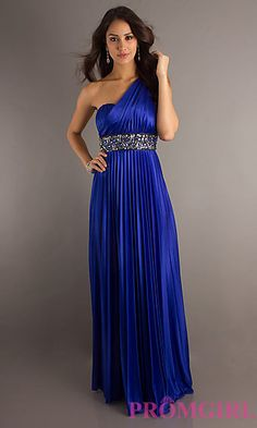 Beautiful dress, great price! Arabian Nights? Pleated, sequin embellished waist, open back, one shoulder with empire waist.