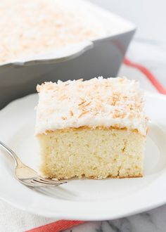 Coconut Sheet Cake - by Baked Bree