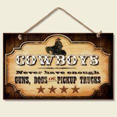 Cowboys Wood Sign
