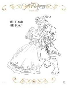 10 beauty the beast printable coloring pages