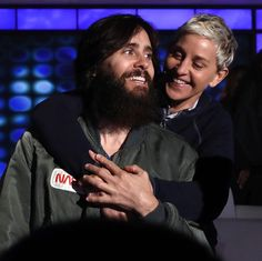 """Mi piace"": 5,387, commenti: 64 - Ellen (@theellenshow) su Instagram: ""Tomorrow I'm hugging the very handsome @jaredleto."""