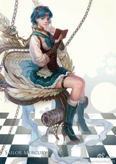 Strawberry Kimono : Photo (Steampunk Sailor MErcury)