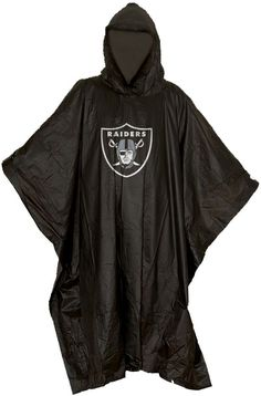 Don't let the rain keep your from supporting your team with the Northwest® Las Vegas Raiders Poncho. Rain Poncho Features team logo at center Weatherproof Material Water resistant material keeps you dry Made of clear PE material Additional Details Compact design to fit in pocket, purse or bag Officially licensed by the NFL Raiders, Las Vegas, Rain Poncho, New Orleans Saints, North West, Team Logo, Adidas Jacket, Compact, Nfl