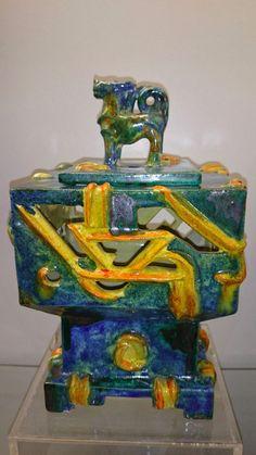 Signed Vally Wieselthier RARE Austrian Wiener Werkstatte Ceramic Box