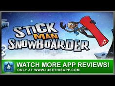 Stickman Snowboarder - iPhone App - Video Game App - App Reviews #iphone #apps #appreviews #IUTA