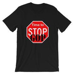 Pro America Anti Trump Ribbon Long Sleeve T-Shirt Patriotic Political Resist Tee