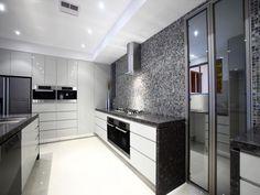 Kitchen grey and white
