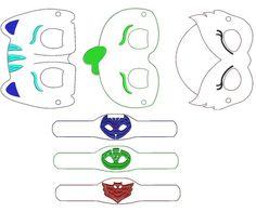 Embroidery Bracelets Design ITH PJ Mask Felt Face Mask and bracelet- Embroidery Design - Pj Mask Disfraz, Pj Masks Costume, Festa Pj Masks, Felt Mask, Embroidery Bracelets, Mask Party, Machine Embroidery Patterns, Diy Mask, Embroidery Techniques