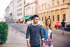 View top-quality stock photos of Young Couple Walking City Streets. Find premium, high-resolution stock photography at Getty Images. Dating A Narcissist, Walking City, Couples Walking, Young Couples, City Streets, Self Confidence, Image, Fashion, Couple