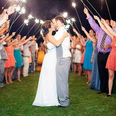 Real Weddings - In Bliss Weddings Wedding guests gave Becky and Scott a warm send off with an arch of sparklers to lead their way. - See more at: http://inblissweddings.com/real-weddings/story/becky_and_scott/319#sthash.vICsjQsl.dpuf