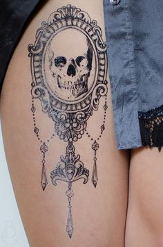 Elegant Chandelier Cameo Tattoo Set by SeventhSkin on Etsy
