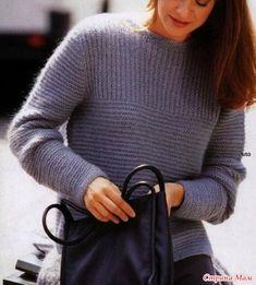 """Здравствуйте, уважаемые любители вязания! Хочу представить ещё одну свою работу - пуловер """"Лавандовый"""", связанный в октябре прошлого года для племянницы. Увидела в интернете одну модельку."""