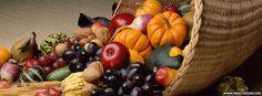 Thanksgiving Cornucopia Facebook Cover                                                                                                                                                                                 More