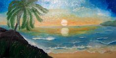 Praia, óleo sobre tela