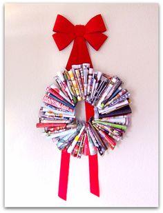 Holiday DIY magazine wreath