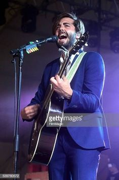 Recording artist Ben Schneider of Lord Huron performs onstage at This Tent during Day 4 of the 2016 Bonnaroo Arts And Music Festival on June 12 Lord Huron, I Love Music, Music Artists, Indie, Handsome, Tent, Singers, Eye Candy, Icons