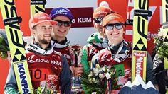 Andreas Wellinger, Markus Eisenbichler, Richard Freitag und Karl Geiger