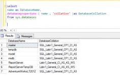 T-SQL Find Database Collation