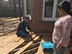 Saying some friendly words to our customer About Her new deck Flooring We were telling her that Pressure treated wood Can be Assembled Either with a close fit or Loose fit Pressure treated wood will shrink As it dries out. Look us up at https://mississaugahandyman.com/?utm_content=buffer25c4d&utm_medium=social&utm_source=pinterest.com&utm_campaign=buffer…/building-deck-deck-repai…/ if you need to know more about deck building and deck repairs.