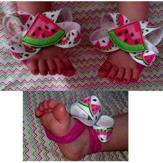 In Hoop Barefoot Sandals Watermelon
