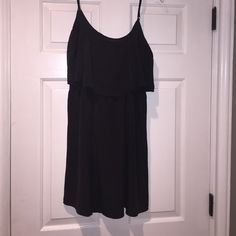 Simple black sundress Adjustable straps, light weighted, black sundress. Very easy to dress up. Worn once. Fun & Flirt Dresses Mini