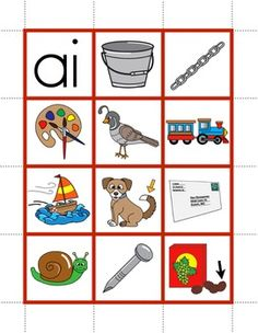 R-Controlled Vowels and Vowel Teams Pocket Chart Pictures