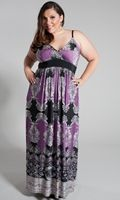 Veronica Maxi Dress in Cool Colors - #plussize $49.99